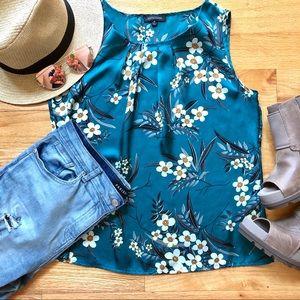 Turquoise Sleeveless blouse Top